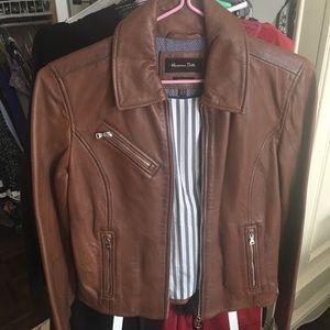 Massimo duty real leather jacket